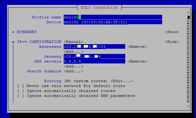 Cách cấu hình và đặt IP tĩnh cho Card mạng trong linux
