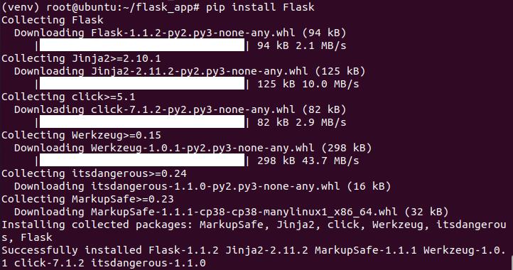 Cài đặt flask trên ubuntu 20.04