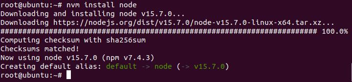 cài đặt node.js và npm trên ubuntu 20.04